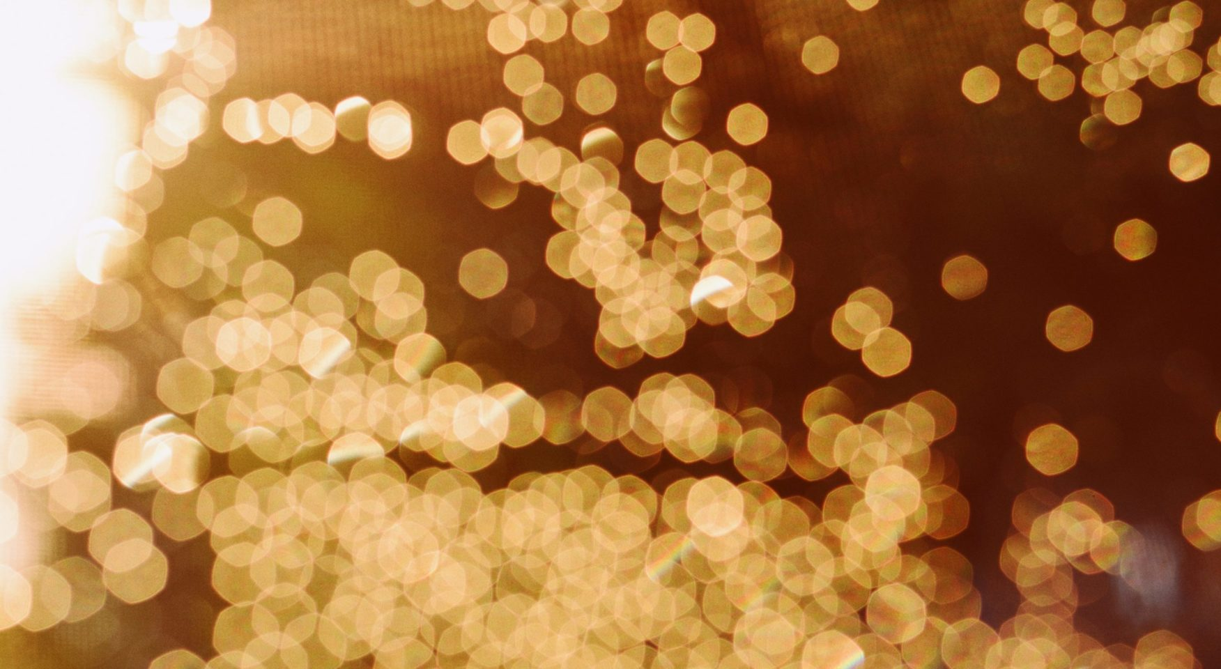 Blurry golden sparkles