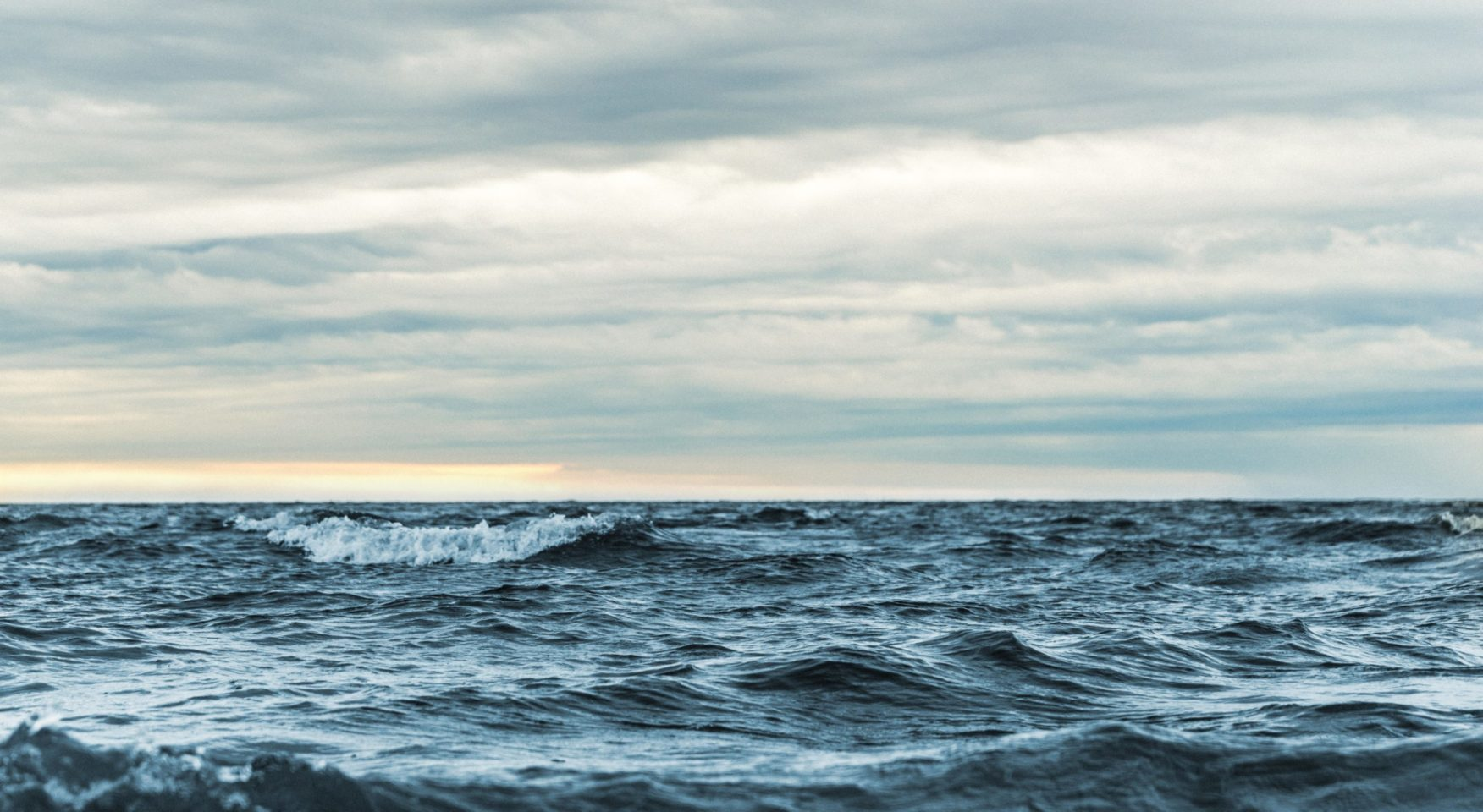 Dark blue choppy sea