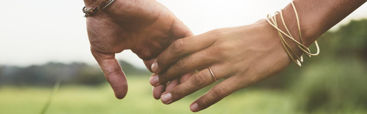 married hands holding
